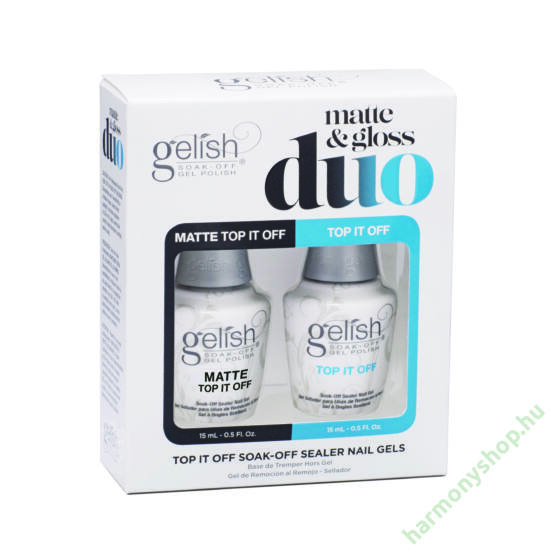 Gelish Top It Off Duo, fényes és matt fedőlakk 1121519