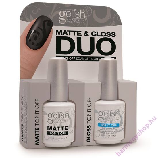 Gelish Top It Off Duo, fényes és matt fedőlakk (01519)